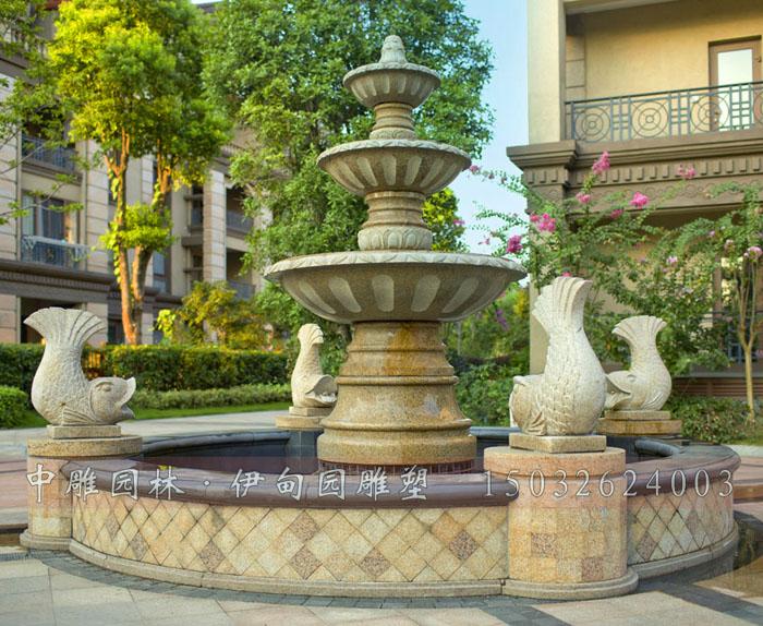 现代石雕喷泉  石雕喷泉-欧式喷泉是纯手工制品,采用天然石材雕刻而成