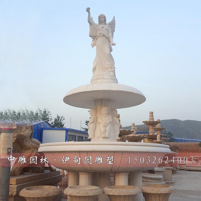 欧式石雕喷泉      1,产品名称:欧式喷泉 石雕喷泉 2,产品材质:汉白玉